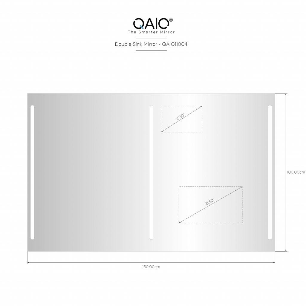 "QAIO 160cm wide x 100cm high, with 22""  TV (QAIO11004)"
