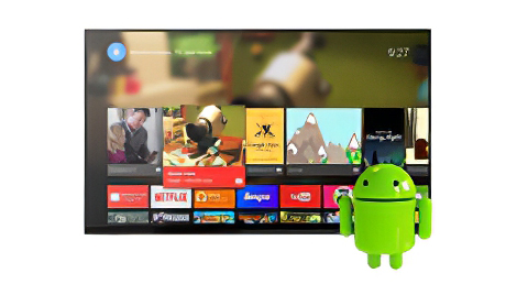 Android smart mirror TV.