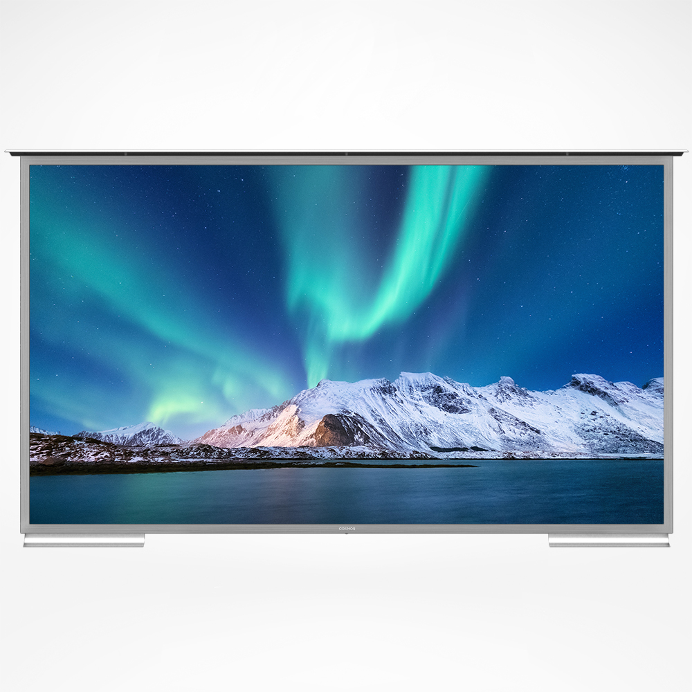 An outdoor television, android smart, and big display.