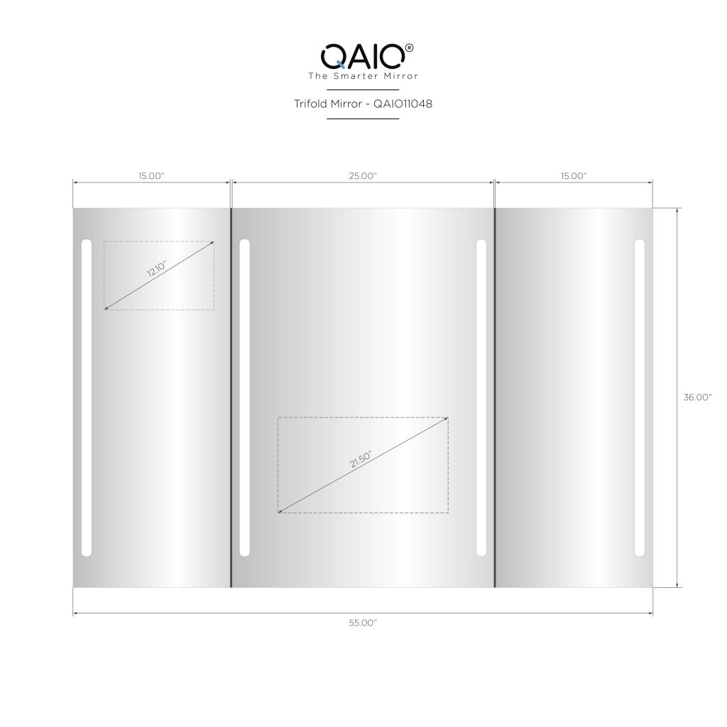 """QAIO Trifold, 140cm wide x 90cm high, with 22"""" TV (QAIO11008)"""