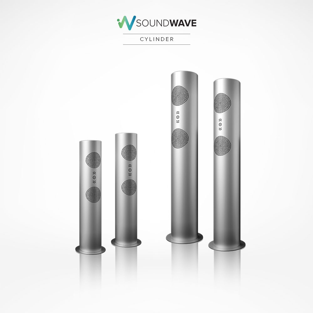 Built with solid stainless steel Soundwave speakers for outdoors.