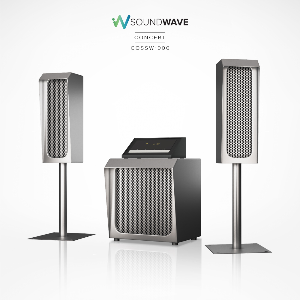 Soundwave concert outdoor speakers made of pure stainless steel for long lasting use.