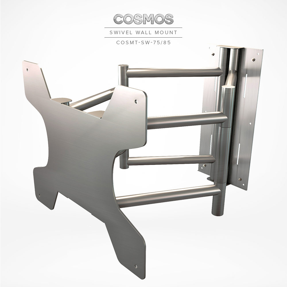 Sturdy made of stainless steel swivel wall mount bracket for TV.