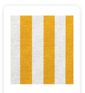 Neoprene Cover – Yellow and White Stripes (COSNC-60-STRYellow)