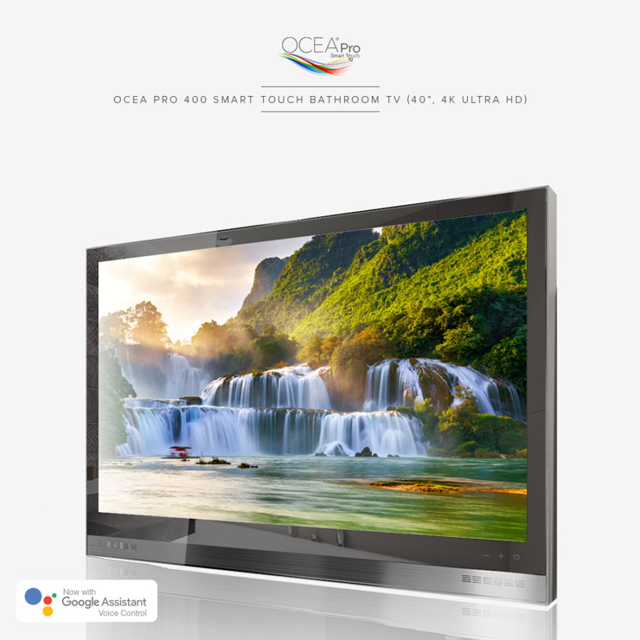 This bathroom TV is not just waterproof, but 4k ultra high-def that delivers stunning pictures.